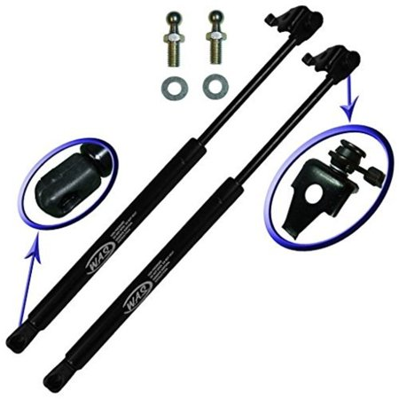 Two Front Hood Gas Charged Lift Supports for 1997-2001 Toyota Camry. With 2 Replacement Studs and Washers. Left and Right Side. WGS-623-2