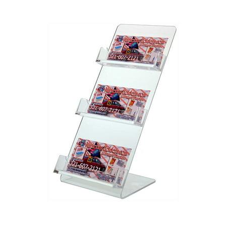 - Clear 3 Pocket Business Card Holder 4