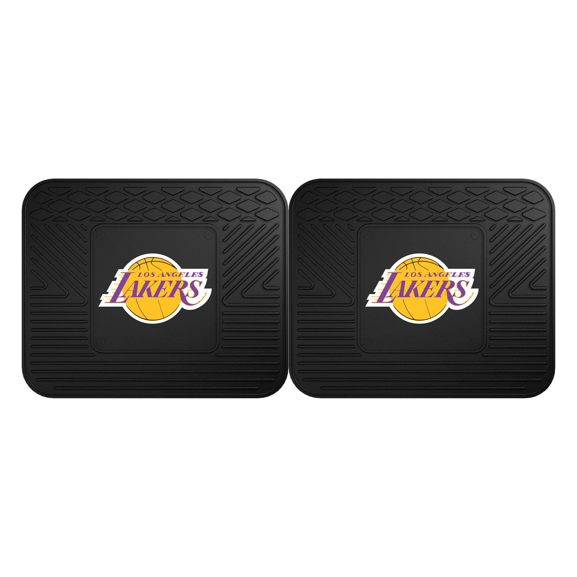 """Los Angeles Lakers 2-pc Utility Mat 14""""x17"""""""