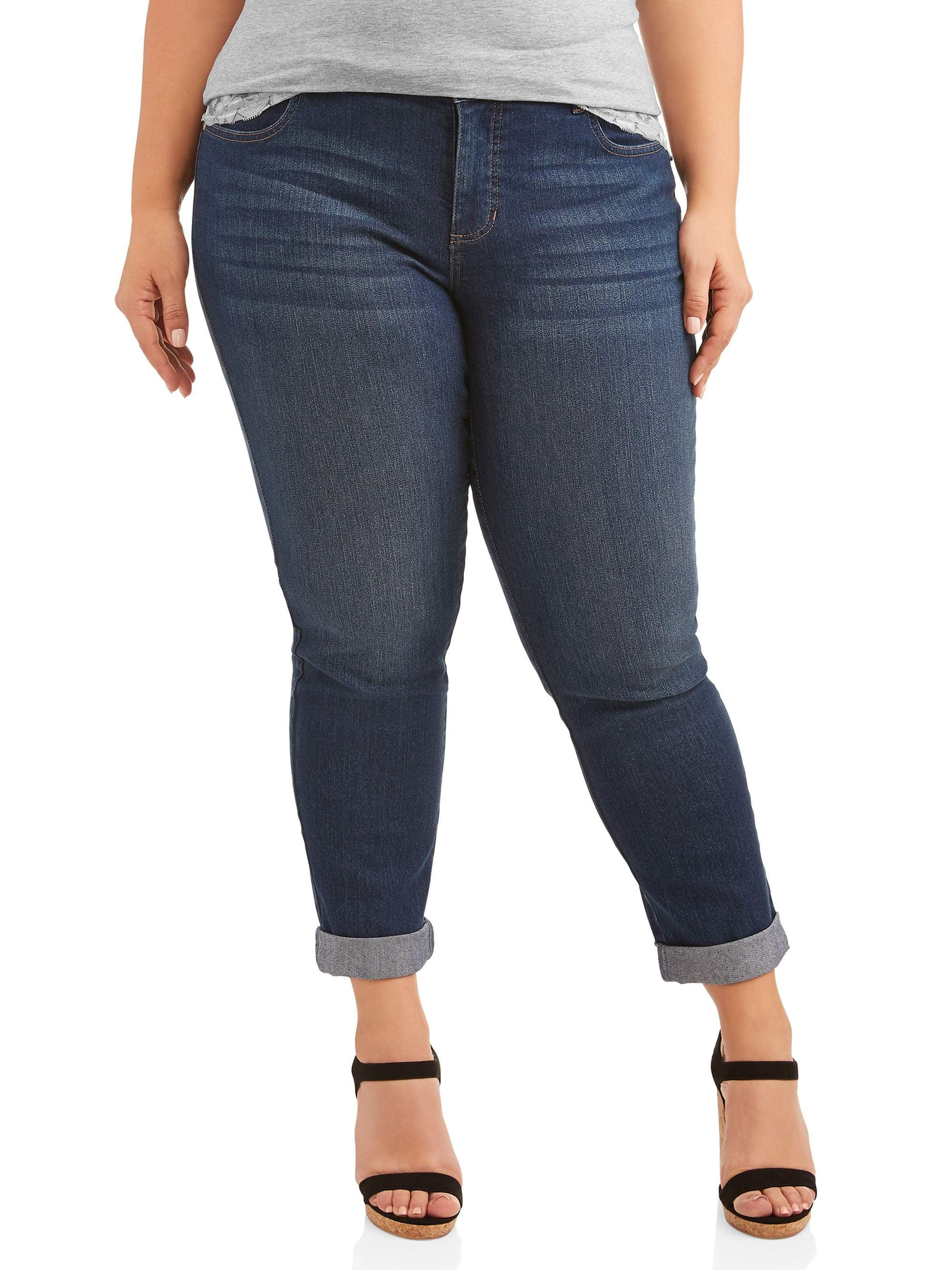 Just My Size Women's Plus-Size Boyfriend 5 pocket Stretch Jean