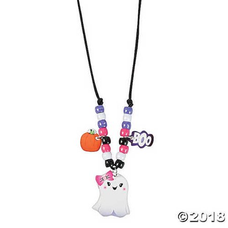 Halloween Ghost Necklace Craft Kit