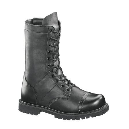 Bates Men's 11 Inches Leather Paratrooper Side Zip Work Black - Paratrooper Jump Boots