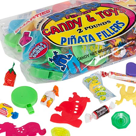Assorted Candy and Toys Pinata Filler, 2 lbs