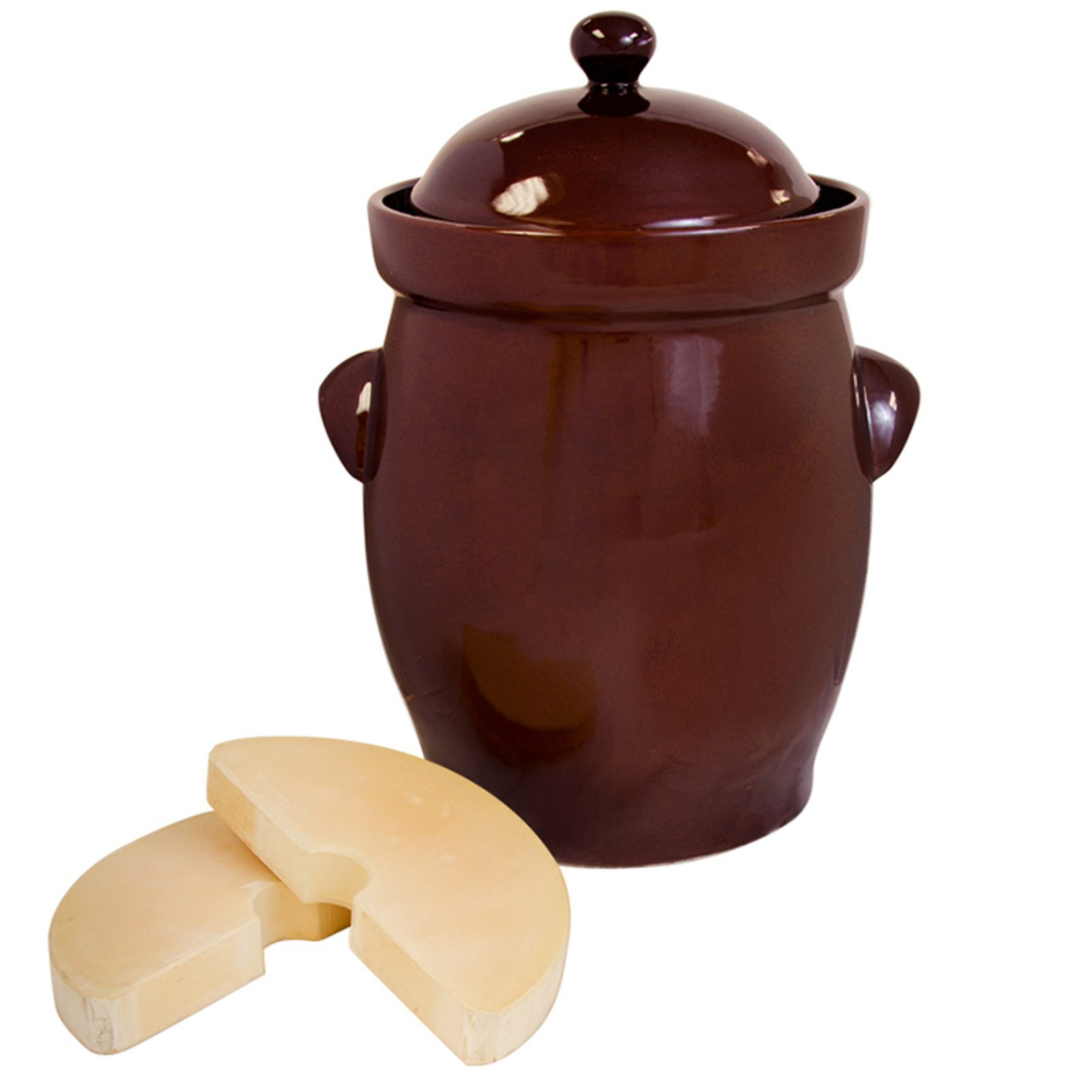 TSM Products Round Polish Fermentation Crock