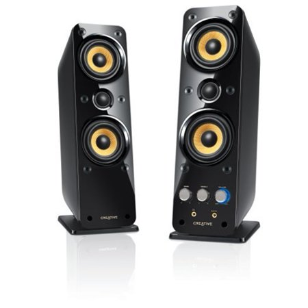 Creative GigaWorks II Series T40 2.0 Speaker System 32W RMS Glossy Black