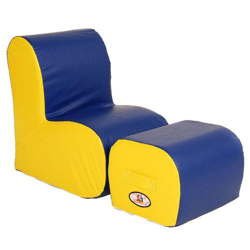 Foamnasium Cloud Kids Chair and Ottoman Set