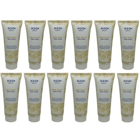 H2O+ Beauty Sea Salt Body Lotion lot of 12 each 1.5oz bottles. Total of 18 (Dead Sea Salt Lotion)