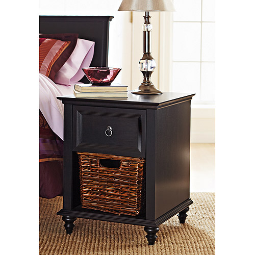 Better Homes and Gardens Bailey Lane Nightstand, Black