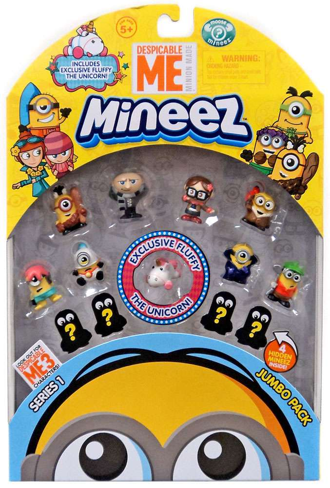 Despicable Me 3 Minions Mineez Series 1 Jumbo Pack [Exclusive Fluffy! Version 2] by