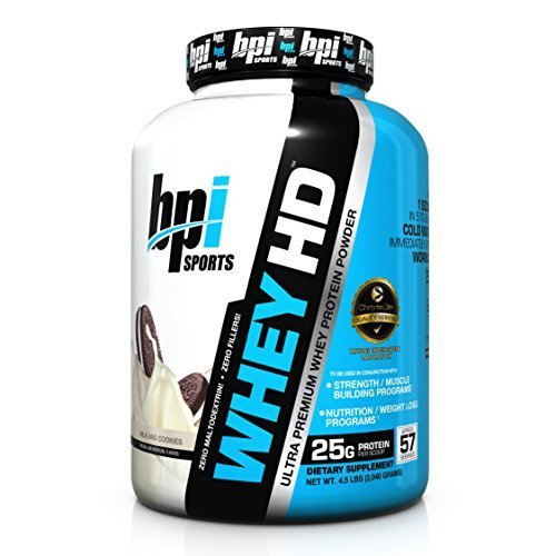 BPI Sports Whey-HD Ultra Premium Whey Protein Powder, Milk & Cookies, 4.98 Pound by BPI Sports