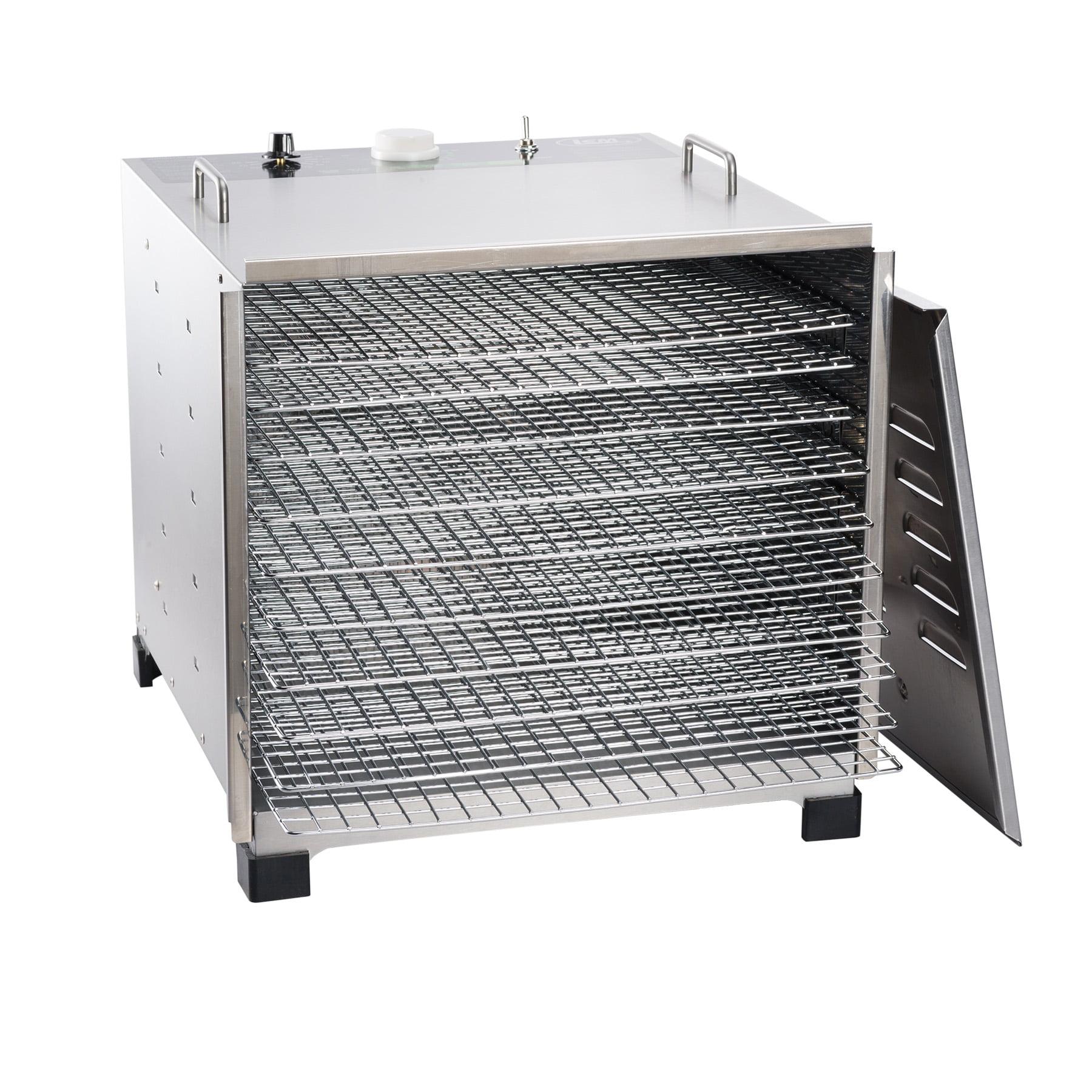 Big Bite Stainless Steel Dehydrator w/ Chrome Plated Trays (10 tray)