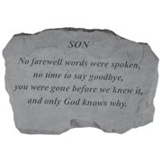 No Farewell Words Were Spoken Memorial Stone With Personalized Header