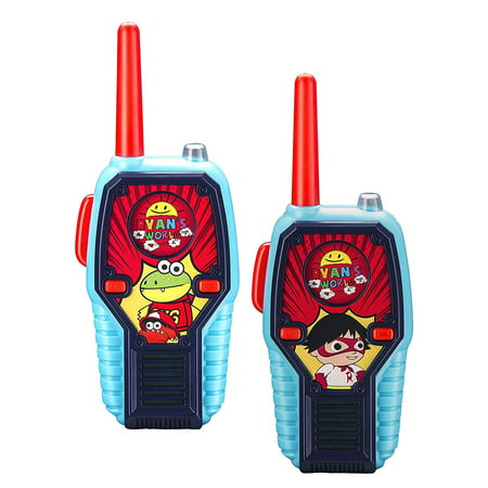Motorcycle Frs Radio (Ryans World FRS Walkie Talkies for Kids with Lights and Sounds Kid Friendly Easy to Use)