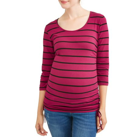Oh! MammaMaternity stripe side cinch tunic - available in plus sizes