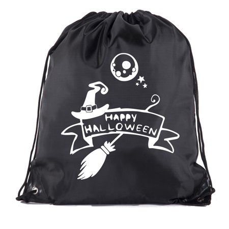 Halloween Drawstring Bag | Halloween Trick or Treat Bag for Candy, Parties and more!