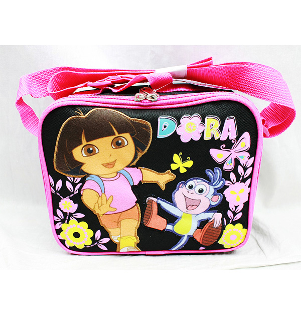 Lunch Bag - Dora the Explorer - Butterfly Black New Case Girls Licensed a02048