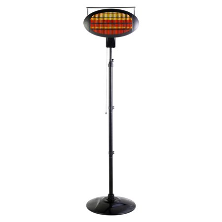 Optimus Garage-Outdoor Floor Standing Infrared Patio Heater with Remote