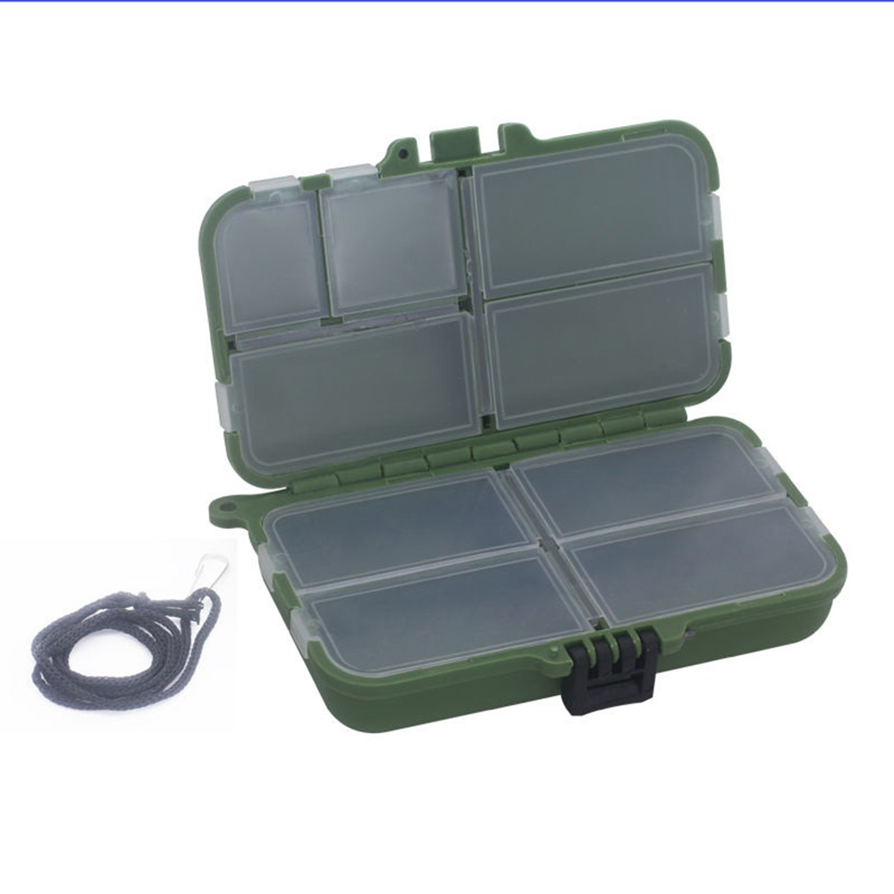 Utility Fishing Tackle Box 9 Grid, Small, Army Green by EPC