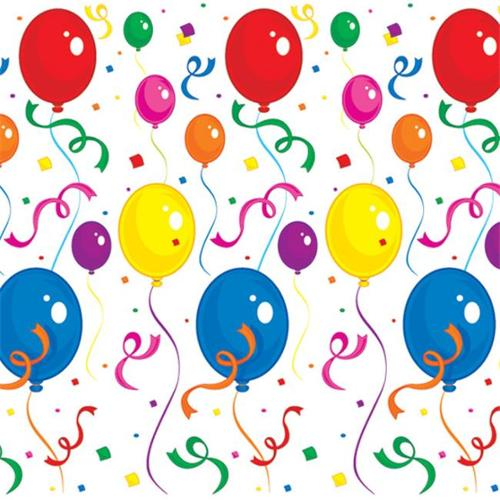 Bulk Buys Balloons & Confetti Backdrop -  Case of 6