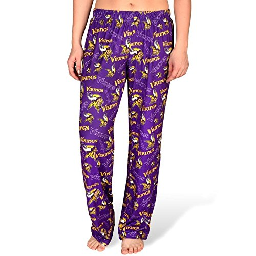 NFL Womens Repeat Polyester Print Lounge Pants Minnesota Vikings by Forever Collectibles