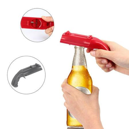 Shooter Shape Portable Flying Cap Beer Opener Bottle Openers Cap Launcher Ejector Kichen Cooking Bar Tool - Beer Bottle Openers