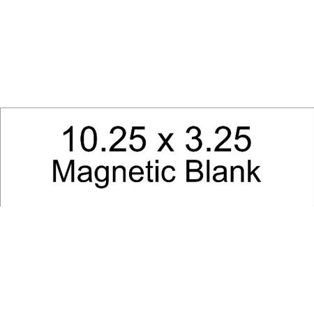 Blank Car Magnets (10.25in x 3.25in Bumper  Magnet Blank Car  Magnetic Blank Vehicle)