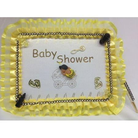 Baby Shower Ethnic Bumble Bee Guest Book Keepsake