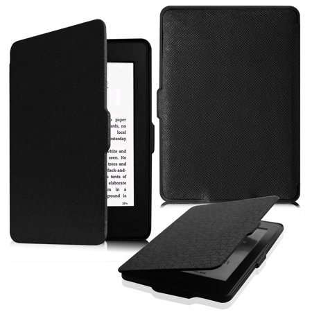 the latest 8d864 5e360 Fintie SlimShell Case for All Kindle Paperwhite Generations Prior to 2018,  Not Fit All-new Paperwhite 10th Gen, Black