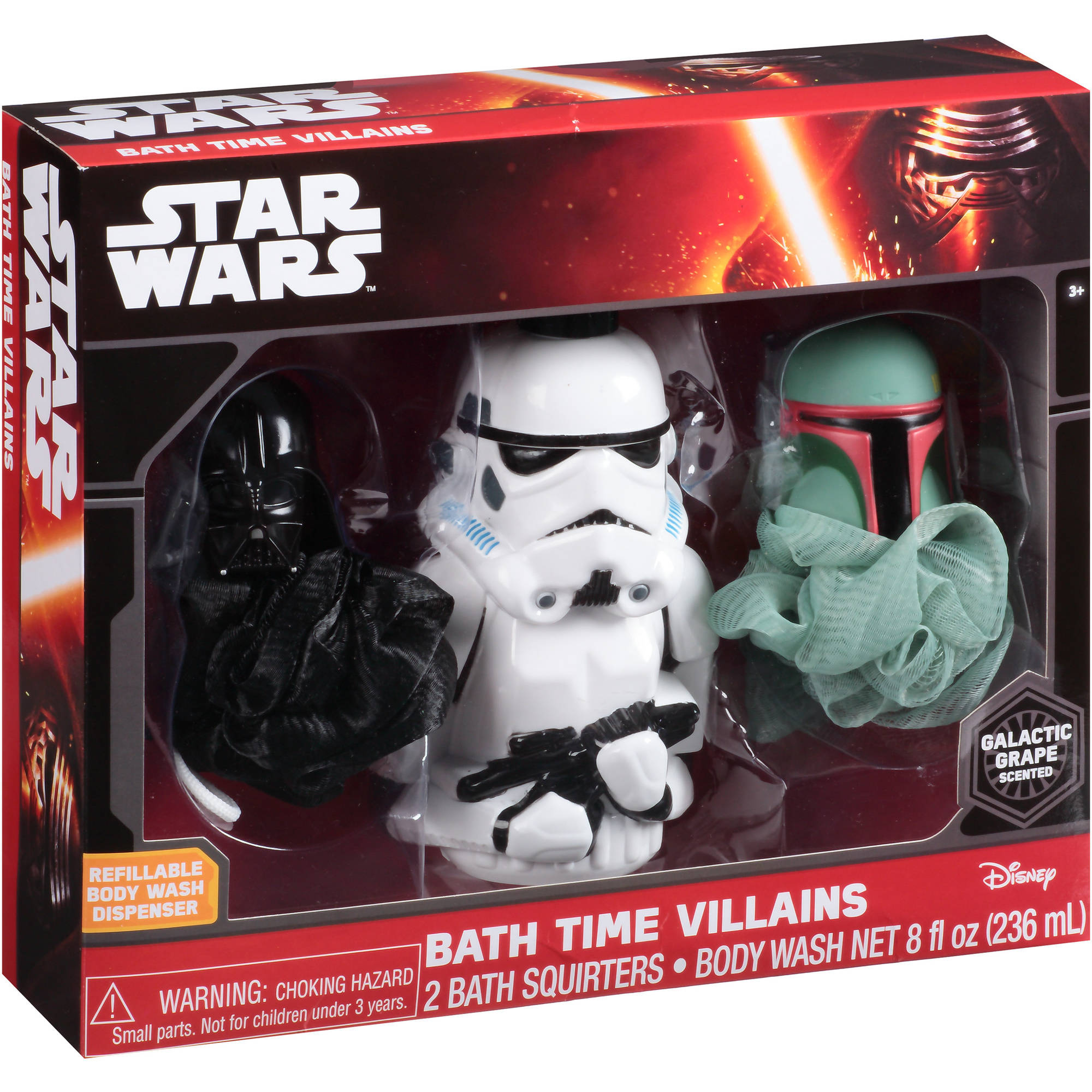 Disney Star Wars Galactic Grape Scented Bath Time Villains Gift Set, 3 pc - Walmart.com