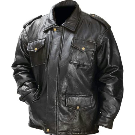 Giovanni Navarre® Italian Stone Design Genuine Leather Field (Distressed Italian Leather Jacket)