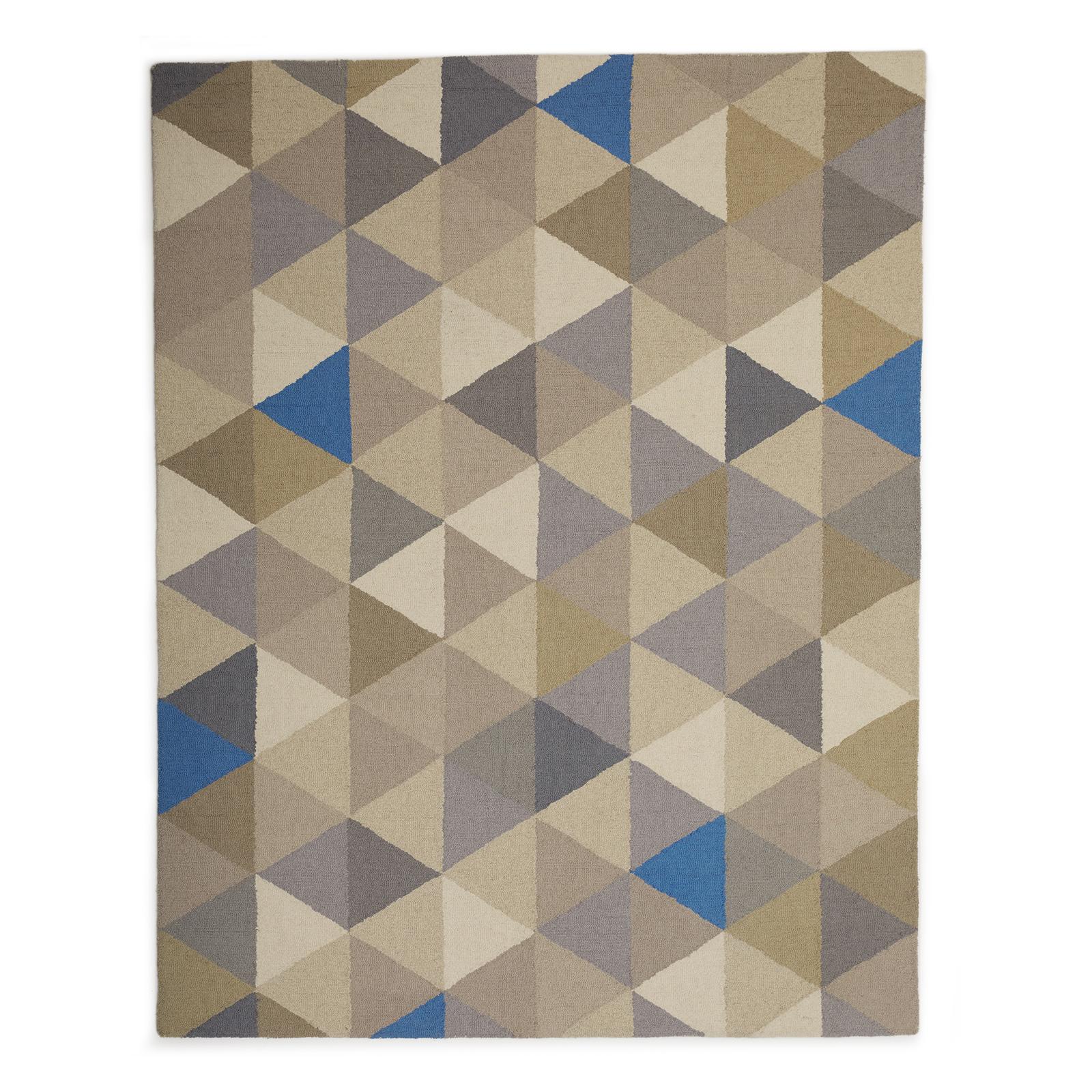 MoDRN Industrial Wool Triangles Area Rug