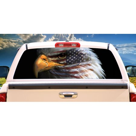 WARBIRD Rear Window Graphic bald eagle truck view thru vinyl ()