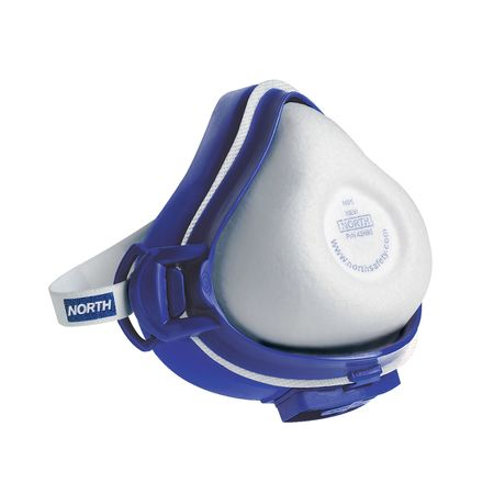HONEYWELL NORTH Half Mask Respirator,Threaded,L Z4200L