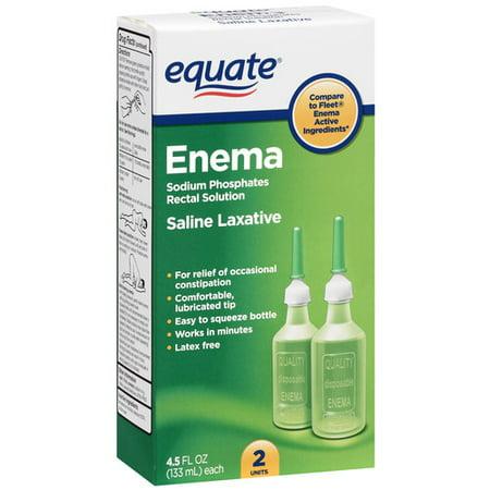 Equate Enema Sodium Phosphates Rectal Solution Complete Hygiene  4 50 Fl Oz