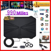 Fysho 990 Mile TV Antenna Indoor Amplification Digital HDTV Antenna 4K HD DVB-T Freeview TV for local channel broadcast home TV