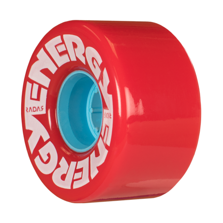 Riedell Skates Radar Energy 57mm Outdoor Skate Wheels (RED, Set of 4) (Skate Wheels Set)
