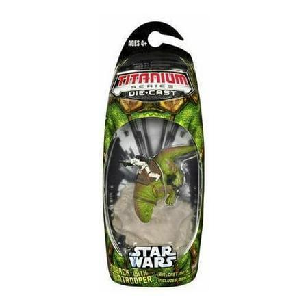 Star Wars Titanium Series 2007 Dewback With Stormtrooper Diecast Vehicle