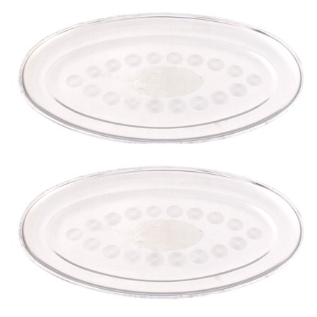 Home Restaurant Stainless Steel Oval Shaped Lunch Fish Dish Plate Tray 26Cm 2Pcs