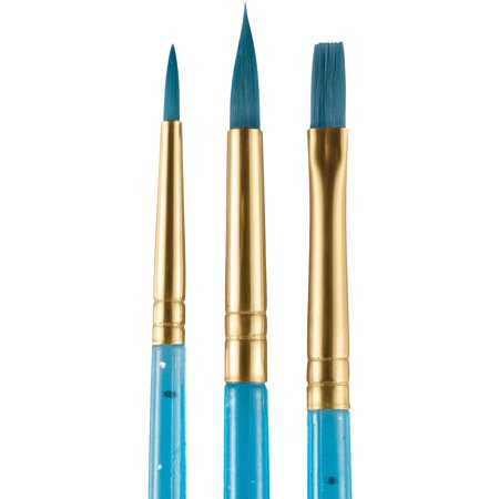 snazaroo Face Painting Starter Round & Flat 3pc Set of Brushes, Blue](Snazaroo Halloween Face Painting)