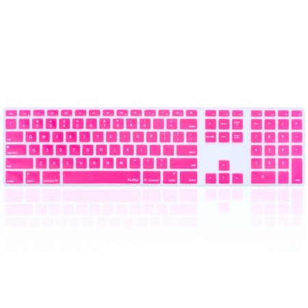 Kuzy - Keyboard Cover for Apple Keyboard with Numeric Keypad Wired USB Full Size for iMac Skin