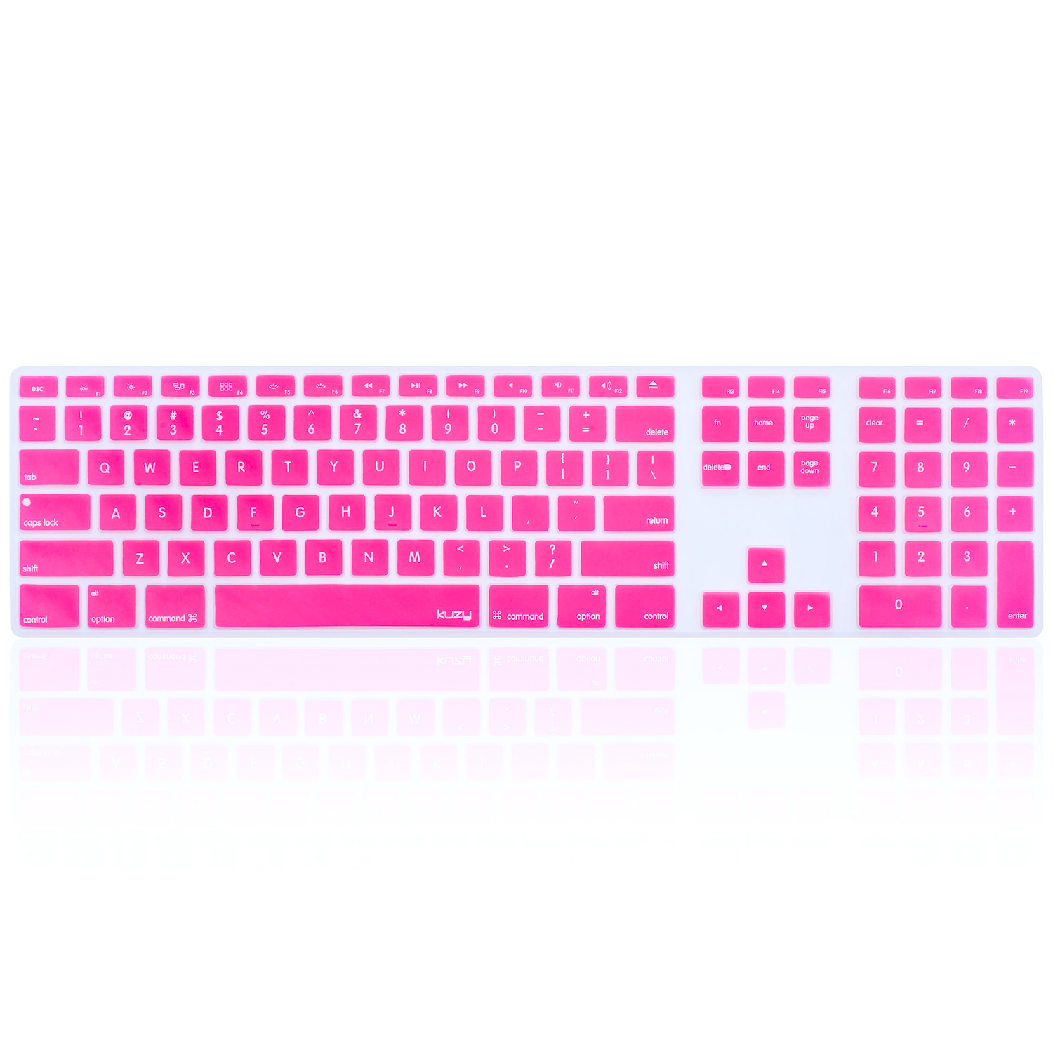 Kuzy - Keyboard Cover for Apple Keyboard with Numeric Keypad Wired USB Full Size for iMac Skin Silicone