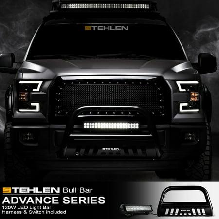 Stehlen 714937186521 3 Clic Series Bull Bar Black With 120w Cree Led Lights