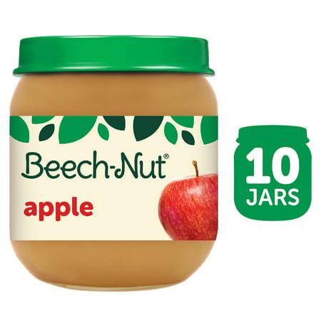 (10 Pack) Beech-Nut Stage 2, Apple Baby Food, 4 oz Jar