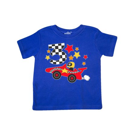 Happy 3rd Birthday Red Racing Car Toddler T Shirt