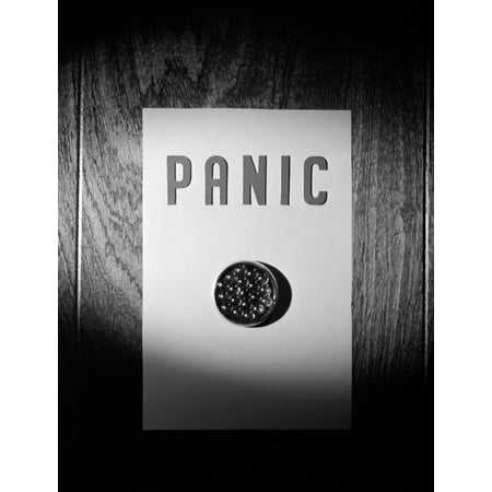 1970s Panic Button On Wall Poster Print By Vintage Collection