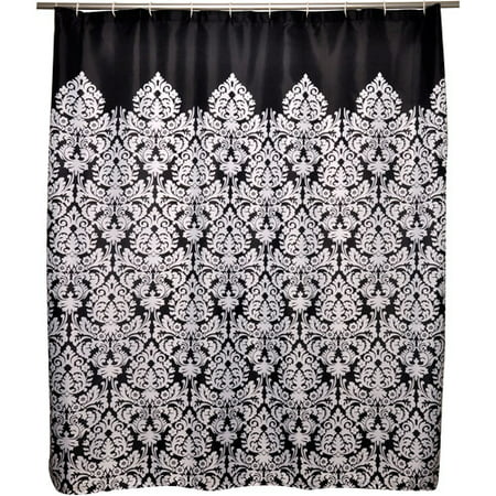Famous Home Waverly Shower Curtain Black