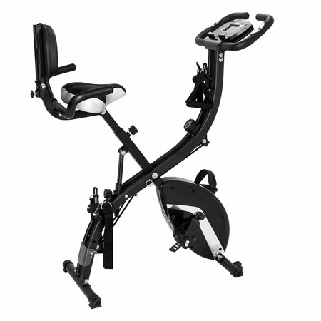 Akoyovwerve 3-in-1 Folding Upright Bike Upright Exercise Bike for Indoor Exercise
