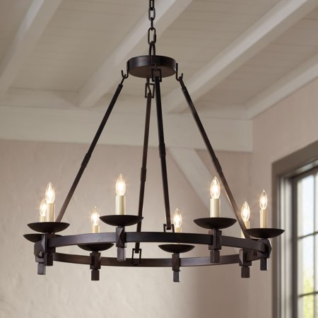 """Franklin Iron Works Balsimo 30"""" Wide 8-Light Spanish Traditional Chandelier"""