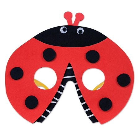 Club Pack of 12 Red and Black Ladybug Eyeglass Party Favor Costume Accessories