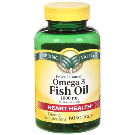 Spring valley omega 3 fish oil dietary supplement 60 ct for Side effects fish oil